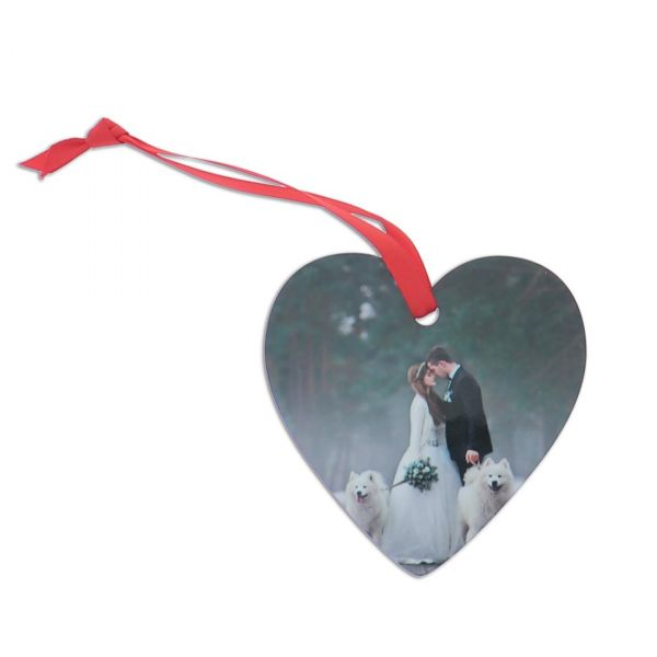 Hardboard Heart Holiday Ornament