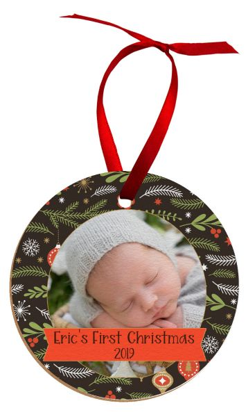 Hardboard Circle Holiday Ornament