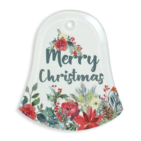 Glass Bell Holiday Ornament